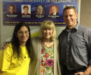 Donna D'Amato Donna Floyd owner of Wave 94.1 fm and Doug Apple station Manager